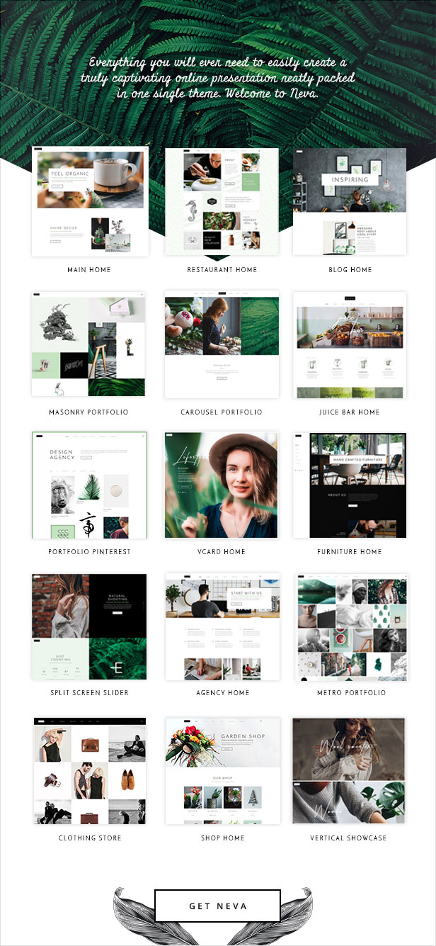 WordPress theme Neva - An Alluring Multipurpose Creative Theme (Creative)
